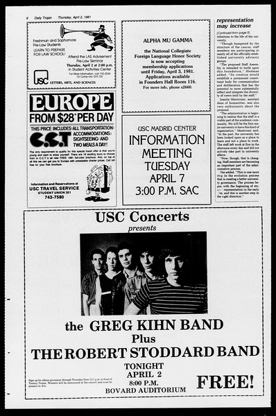 Daily Trojan, Vol. 90, No. 39, April 02, 1981