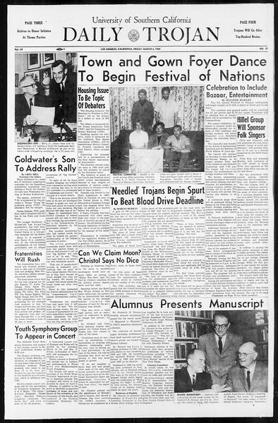 Daily Trojan, Vol. 55, No. 77, March 06, 1964