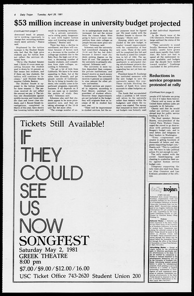 Daily Trojan, Vol. 90, No. 50, April 28, 1981