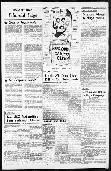 Daily Trojan, Vol. 55, No. 75, March 04, 1964