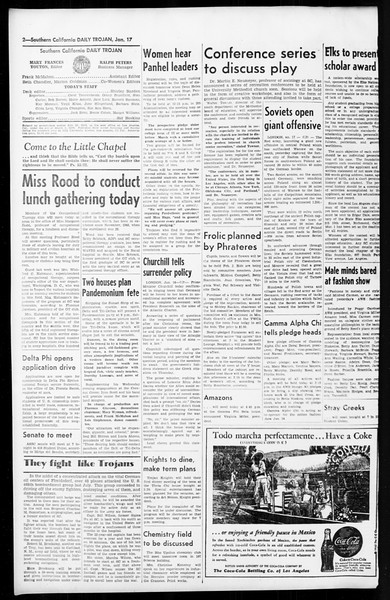 Daily Trojan, Vol. 36, No. 48, January 17, 1945