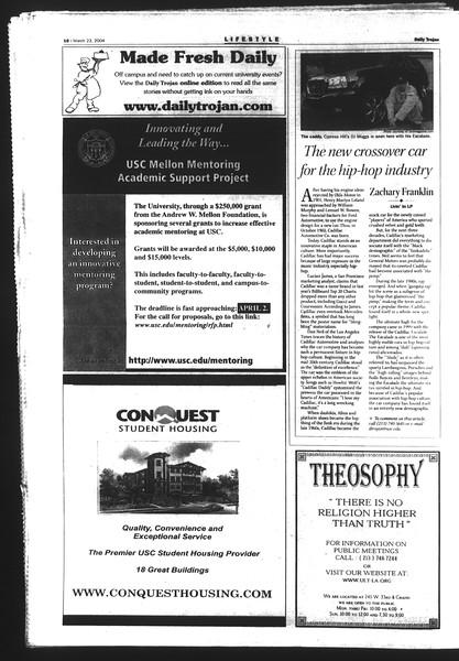 Daily Trojan, Vol. 151, No. 40, March 23, 2004