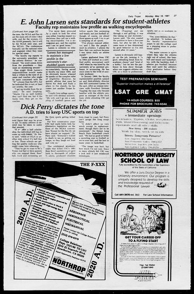 Daily Trojan, Vol. 90, No. 64?, May 18, 1981