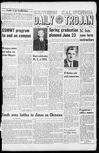 Daily Trojan, Vol. 36, No. 144, June 14, 1945