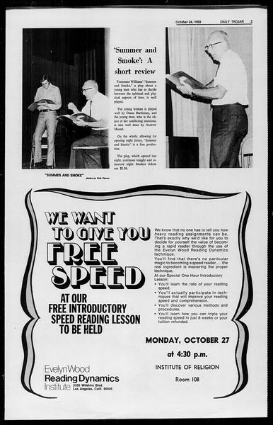 Daily Trojan, Vol. 61, No. 30, October 24, 1969
