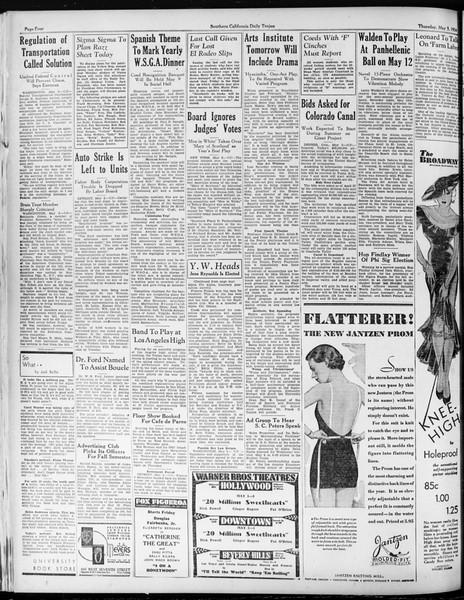Daily Trojan, Vol. 25, No. 127, May 03, 1934