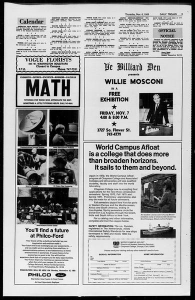 Daily Trojan, Vol. 61, No. 38, November 06, 1969
