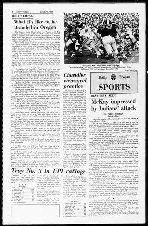 Daily Trojan, Vol. 61, No. 17, October 07, 1969