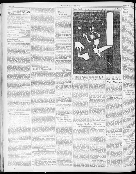 Daily Trojan, Vol. 25, No. 88, March 02, 1934