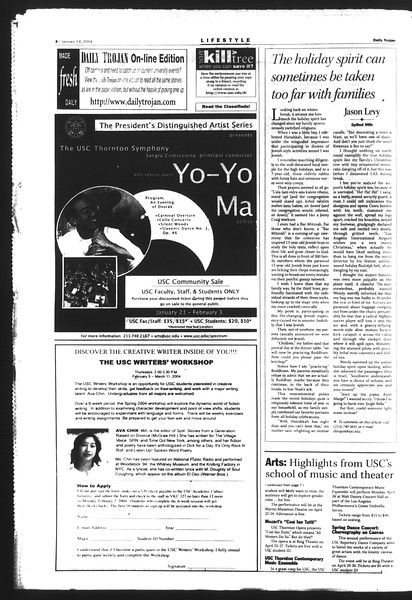 Daily Trojan, Vol. 151, No. 2, January 14, 2004