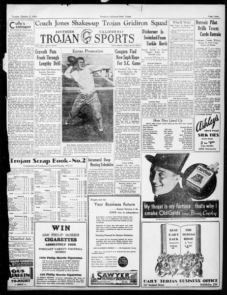 Daily Trojan, Vol. 26, No. 8, October 02, 1934