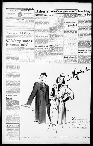 Daily Trojan, Vol. 36, No. 45, January 12, 1945