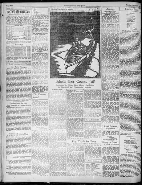 Daily Trojan, Vol. 25, No. 64, January 16, 1934