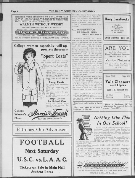 The Daily Southern Californian, Vol. 3, No. 29, October 30, 1913