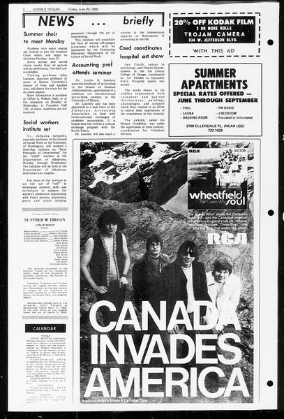 Summer Trojan, Vol. 60, No. 2, June 20, 1969