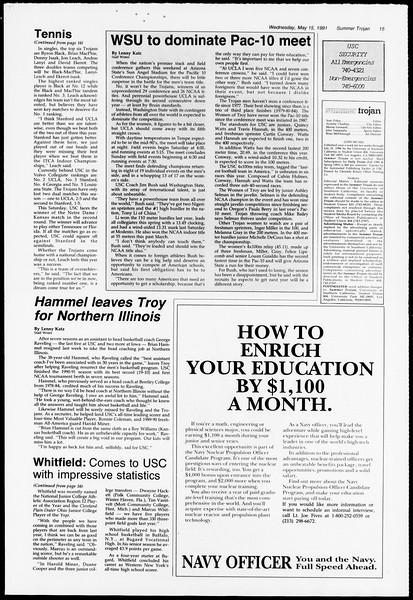 Summer Trojan, Vol. 115, No. 1, May 15, 1991