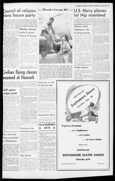 Daily Trojan, Vol. 36, No. 82, March 20, 1945