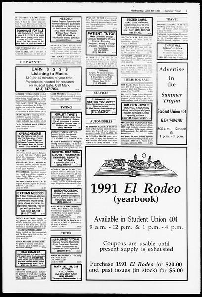 Summer Trojan, Vol. 115, No. 6, June 19, 1991