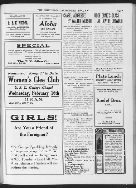 The Southern California Trojan, Vol. 7, No. 71, February 15, 1916