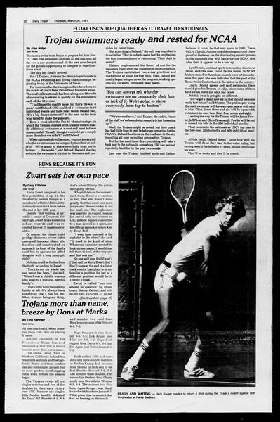 Daily Trojan, Vol. 90, No. 34, March 26, 1981
