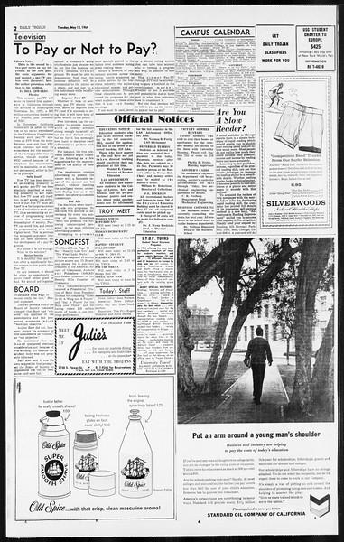 Daily Trojan, Vol. 55, No. 116, May 12, 1964