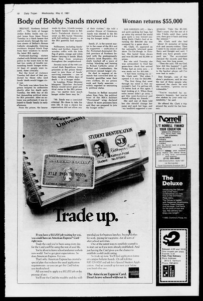 Daily Trojan, Vol. 90, No. 56, May 06, 1981