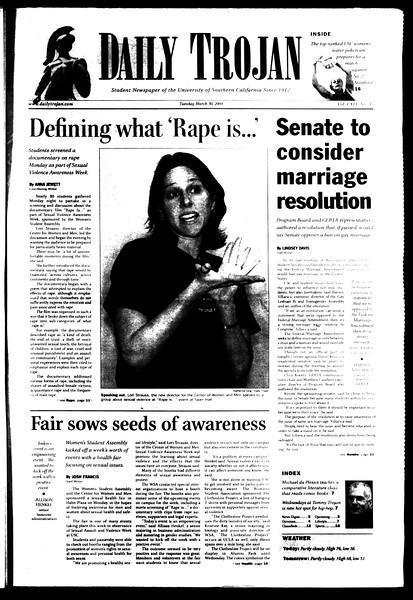 Daily Trojan, Vol. 151, No. 45, March 30, 2004