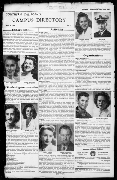 The Trojan, Vol. 36, No. 1, November 03, 1944