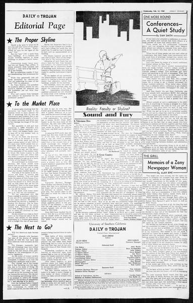 Daily Trojan, Vol. 55, No. 60, February 12, 1964