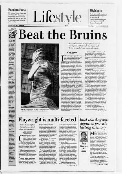 Daily Trojan, Vol. 141, No. 54, November 14, 2000