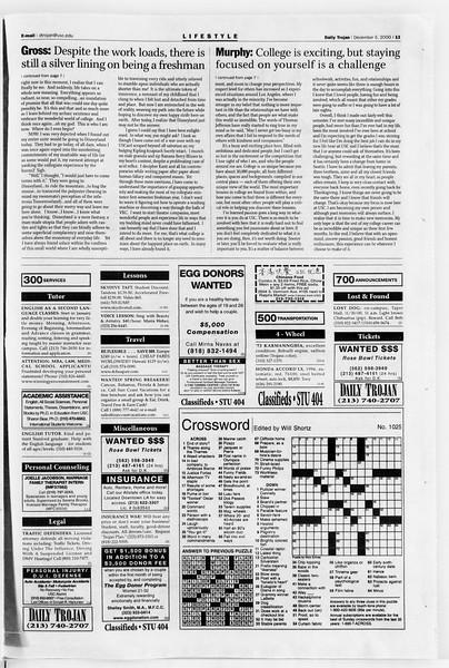 Daily Trojan, Vol. 141, No. 66, December 06, 2000