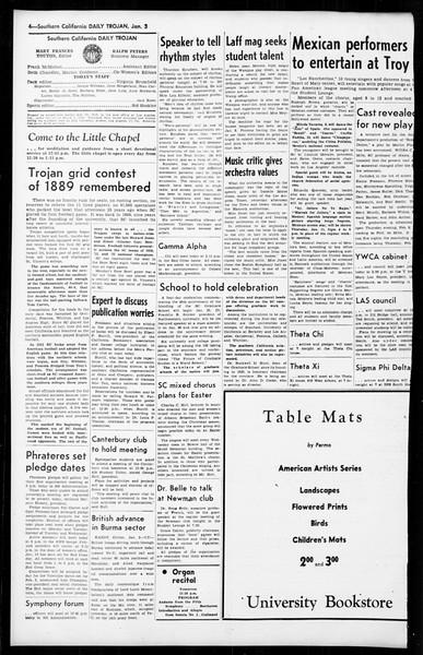 Daily Trojan, Vol. 36, No. 38, January 03, 1945