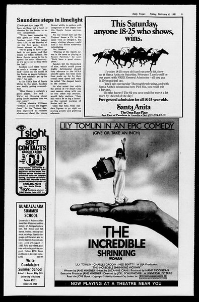 Daily Trojan, Vol. 90, No. 3, February 06, 1981