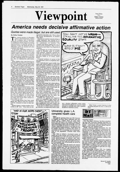 Summer Trojan, Vol. 115, No. 3, May 29, 1991
