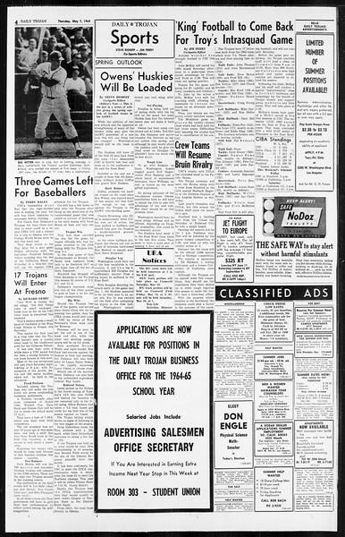 Daily Trojan, Vol. 55, No. 113, May 07, 1964