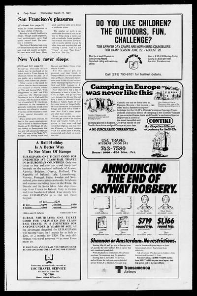 Daily Trojan, Vol. 90, No. 24, March 11, 1981