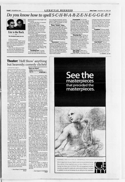 Daily Trojan, Vol. 141, No. 56, November 16, 2000