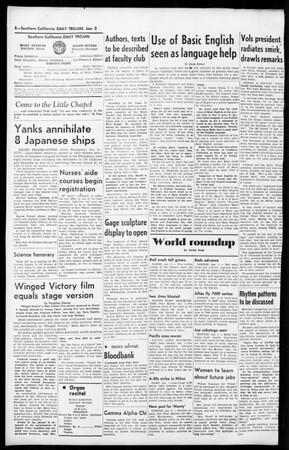 Daily Trojan, Vol. 36, No. 37, January 02, 1945