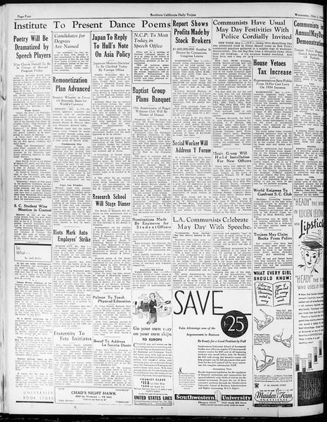 Daily Trojan, Vol. 25, No. 126, May 02, 1934
