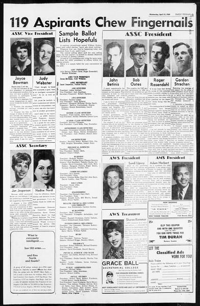 Daily Trojan, Vol. 55, No. 98, April 15, 1964