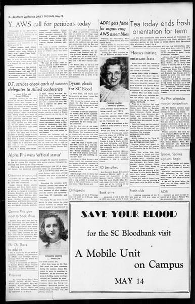Daily Trojan, Vol. 36, No. 114, May 03, 1945