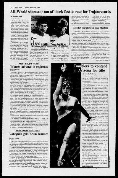 Daily Trojan, Vol. 90, No. 26, March 13, 1981
