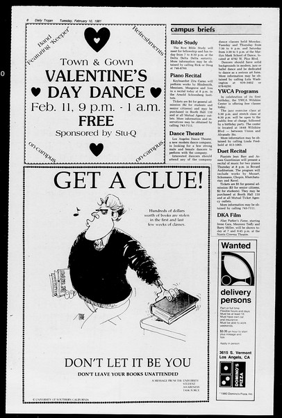 Daily Trojan, Vol. 90, No. 5, February 10, 1981