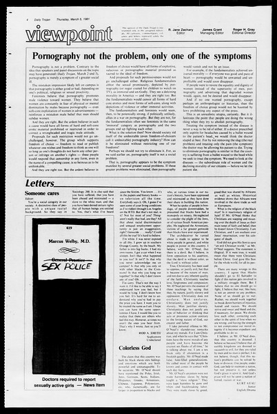 Daily Trojan, Vol. 90, No. 20, March 05, 1981