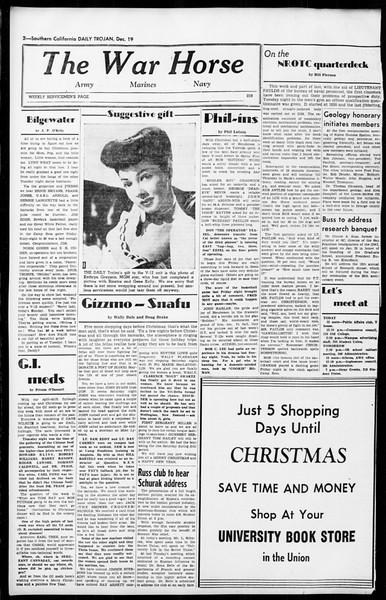 Daily Trojan, Vol. 36, No. 30, December 19, 1944