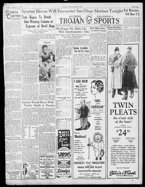 Daily Trojan, Vol. 26, No. 30, November 02, 1934