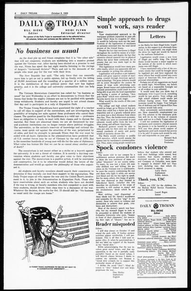 Daily Trojan, Vol. 61, No. 18, October 08, 1969
