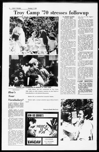 Daily Trojan, Vol. 61, No. 17, October 07, 1969