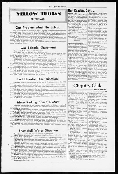 Yellow Trojan, Vol. 55, No. 89, April 01, 1964