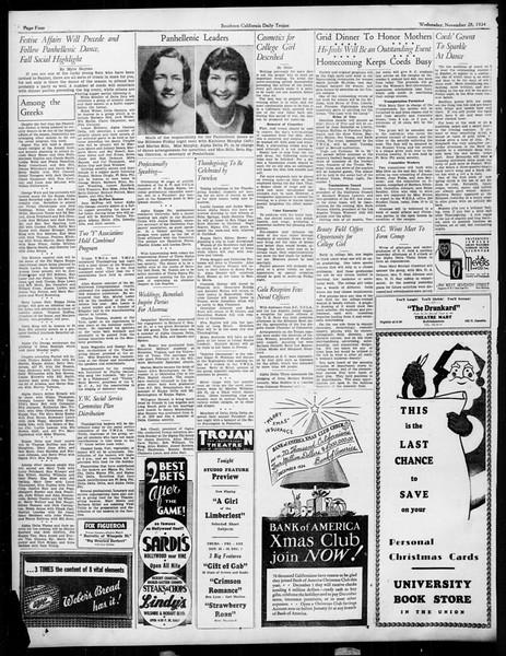 Daily Trojan, Vol. 26, No. 47, November 28, 1934